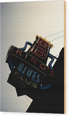 Bb King Blues Club Wood Print by Off The Beaten Path Photography - Andrew Alexander