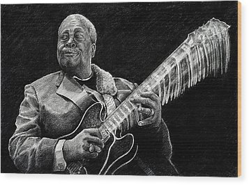 Bb King Of The Blues Wood Print