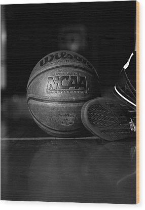 Bball Wood Print by Molly Picklesimer