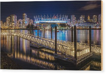 Bc Place Wood Print by Alexis Birkill