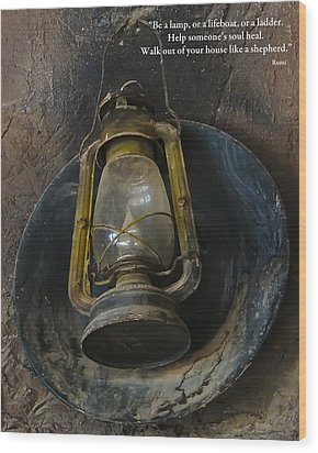 Be A Light Wood Print