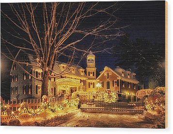 Merry Christmas  Wood Print by Tricia Marchlik