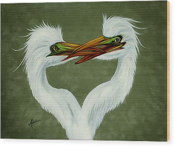 Be My Valentine Wood Print by Adele Moscaritolo