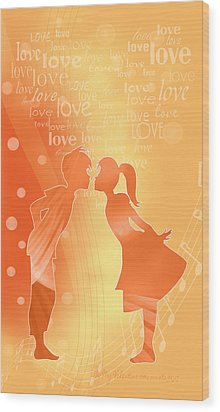 Be My Valentine Wood Print by Gayle Odsather
