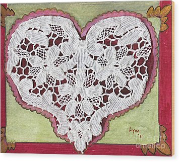 Be My Valentine Wood Print