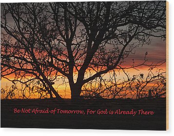 Be Not Afraid Wood Print by Shirley Heier
