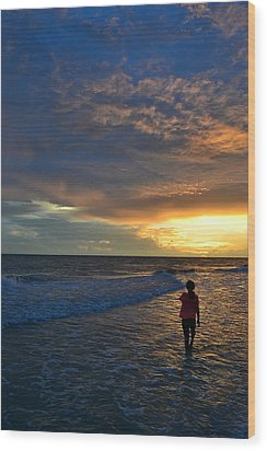 Wood Print featuring the photograph Be Wonderful... Because You Are by Melanie Moraga