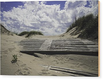 Beach Access Wood Print