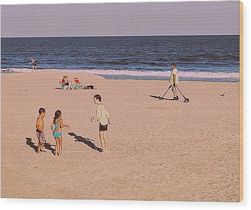 Beach Activities Wood Print