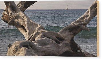 Beach Art Wood Print by Inge Riis McDonald