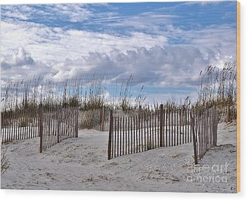 Wood Print featuring the photograph Beach At Pawleys Island by Kathy Baccari