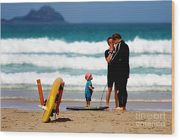 Beach Baby Wood Print by Terri Waters