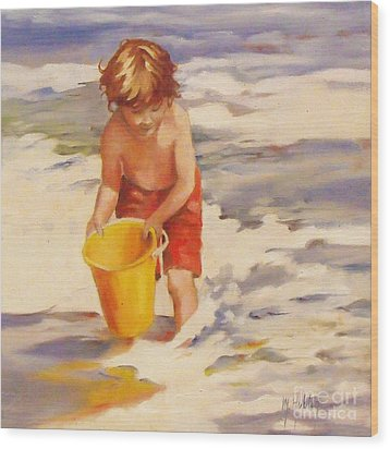 Beach Boy Wood Print