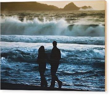 Beach Buddies Wood Print by Camille Lopez
