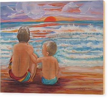 Beach Buddies II Wood Print
