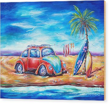 Beach Bug Wood Print