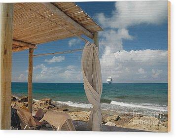 Beach Cabana  Wood Print by Amy Cicconi