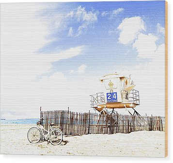 Wood Print featuring the photograph Beach Cruiser by Margie Amberge