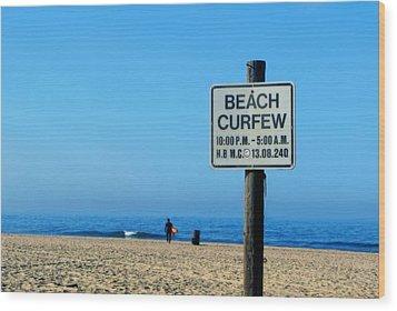 Beach Curfew Wood Print
