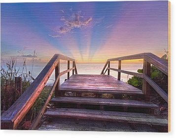 Beach Dreams Wood Print by Debra and Dave Vanderlaan