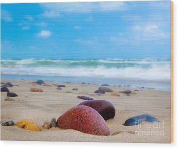 Beach Dreams In Skagen Wood Print by Inge Johnsson