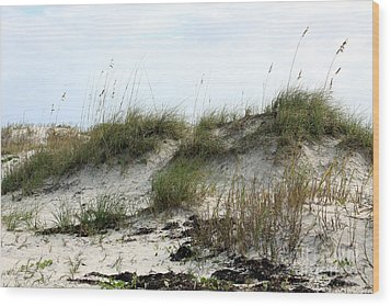 Wood Print featuring the photograph Beach Dune by Chris Thomas