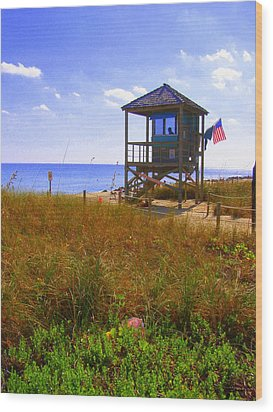 Wood Print featuring the photograph Beach Duty by Artists With Autism Inc