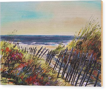 Beach Entry Wood Print by John Williams