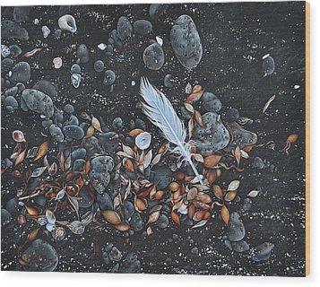 Beach Floor. Flinders Vic Wood Print by Elena Kolotusha