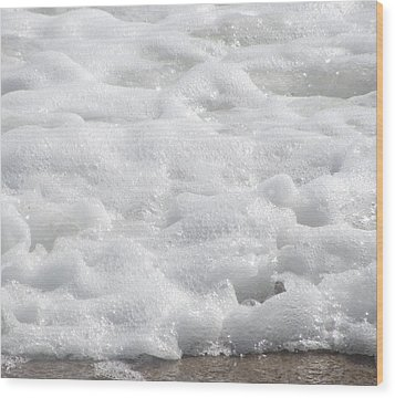 Wood Print featuring the photograph Beach Foam by Cathy Lindsey