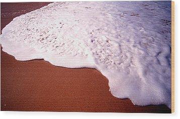 Beach Foam Wood Print
