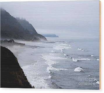 Beach Frontage In Monet Wood Print