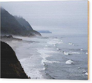 Beach Frontage In Monet Wood Print by Sharon Elliott