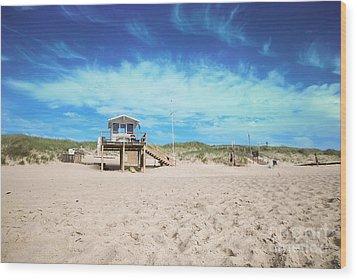 Beach Guard - Sylt Wood Print by Hannes Cmarits