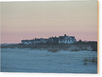 Beach Houses Wood Print by Cynthia Guinn