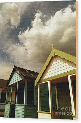 Wood Print featuring the photograph Beach Huts by Vicki Spindler