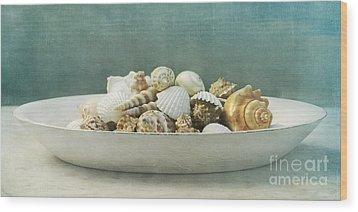 Beach In A Bowl Wood Print by Priska Wettstein