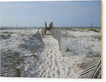 Wood Print featuring the photograph Beach by Jon Emery