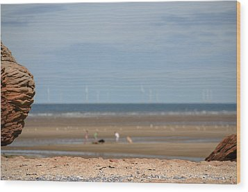 Beach Wood Print by Spikey Mouse Photography