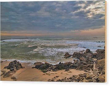Beach Landscape Wood Print
