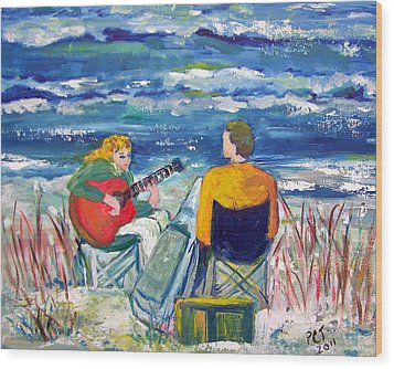 Beach Music Wood Print by Patricia Taylor