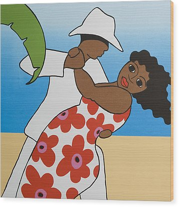 Beach Party Wood Print by Trudie Canwood