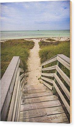 Beach Path Wood Print by Adam Romanowicz