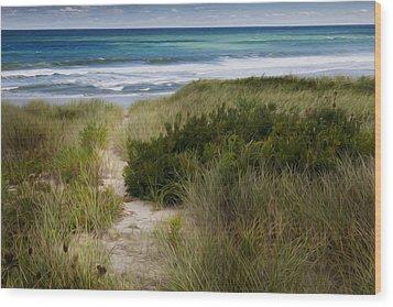 Beach Path Wood Print by Bill Wakeley