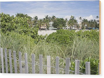 Wood Print featuring the photograph Beach Path by Laurie Perry