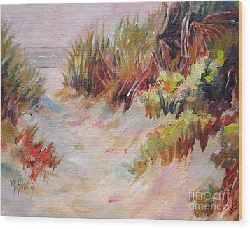 Beach Path Through The Dunes Wood Print