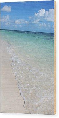 Beach Playa Mujeres Wood Print by Paula Brown