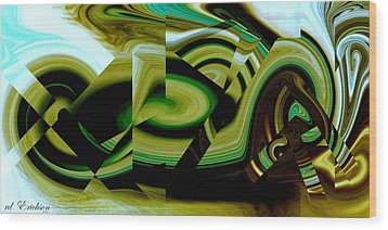 Wood Print featuring the digital art Beach Racer by Roy Erickson