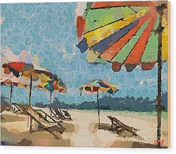 Beach Rainbows Wood Print by Dragica  Micki Fortuna