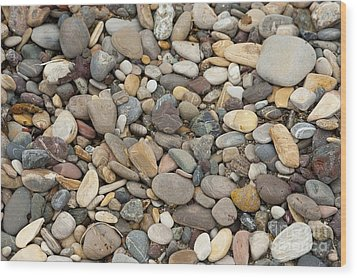 Beach Rocks Wood Print by Artist and Photographer Laura Wrede